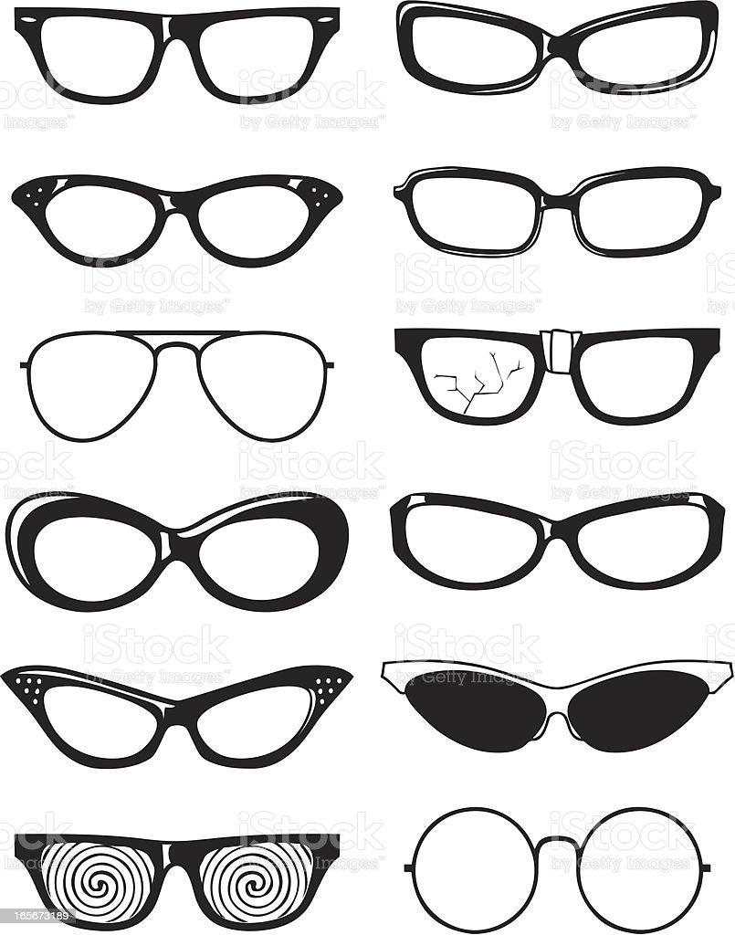 bw sunglasses vector art illustration