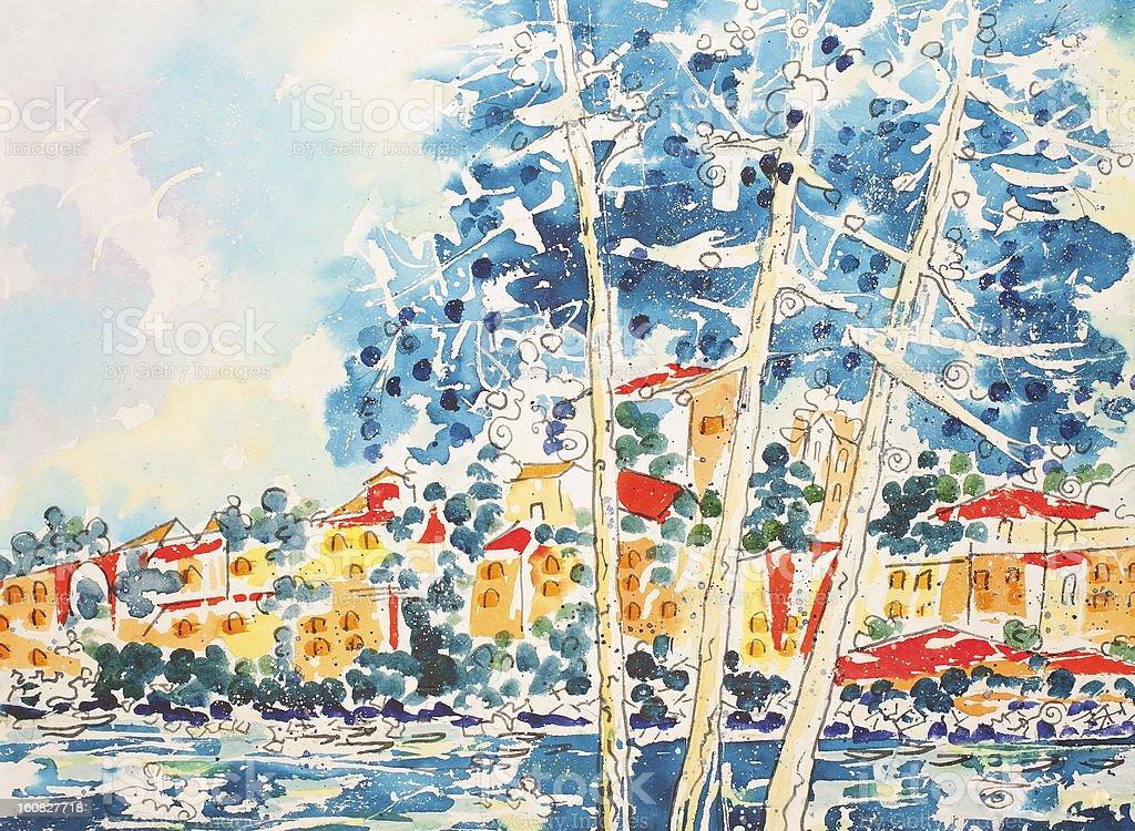 By al mar illustracion libre de derechos libre de derechos