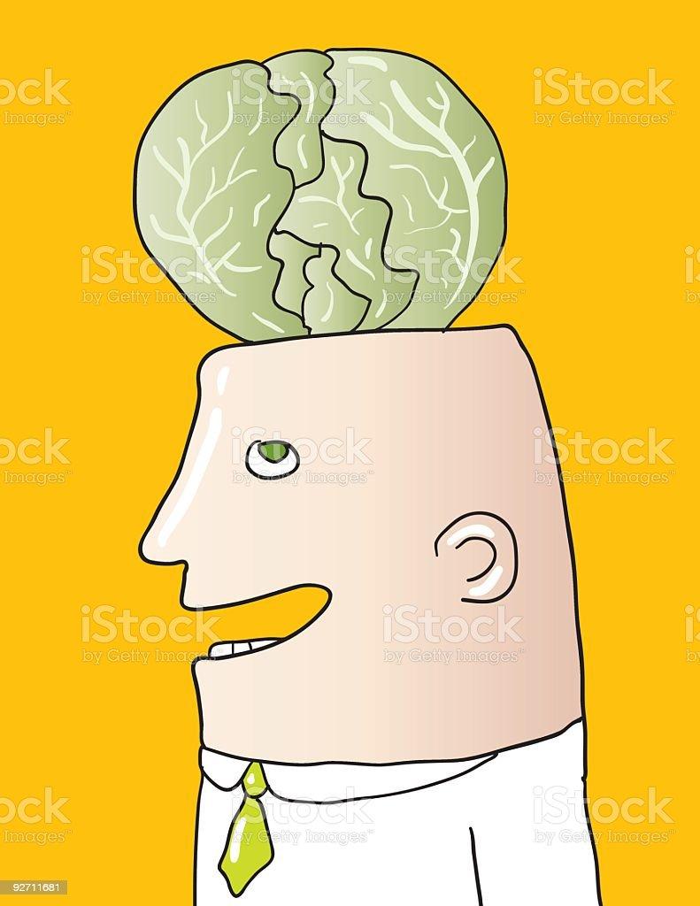 cabbage head royalty-free stock vector art