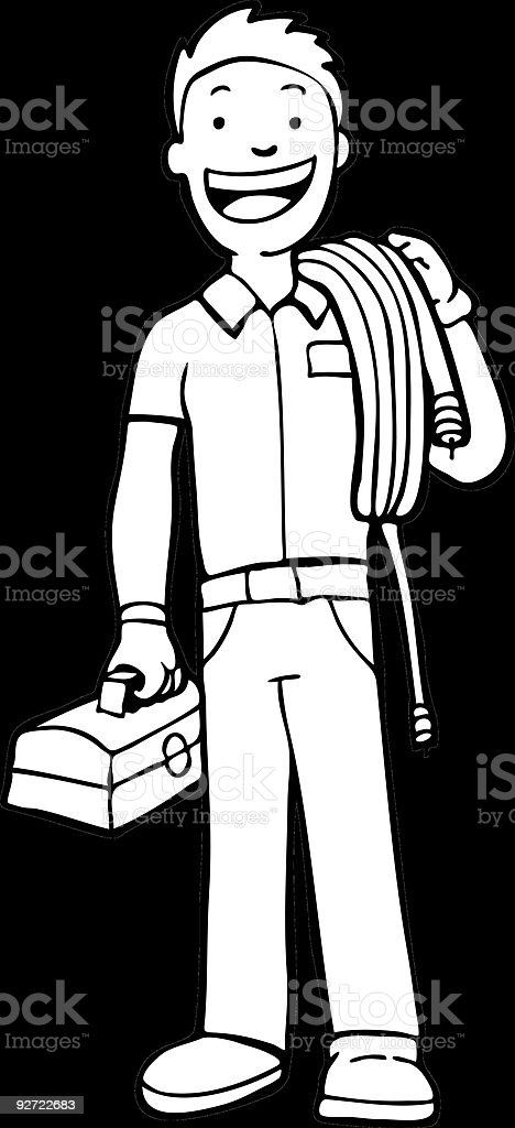 Cable Guy royalty-free stock vector art