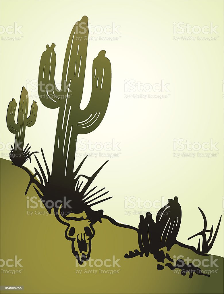 Cactus saguaro. Vector background royalty-free stock vector art