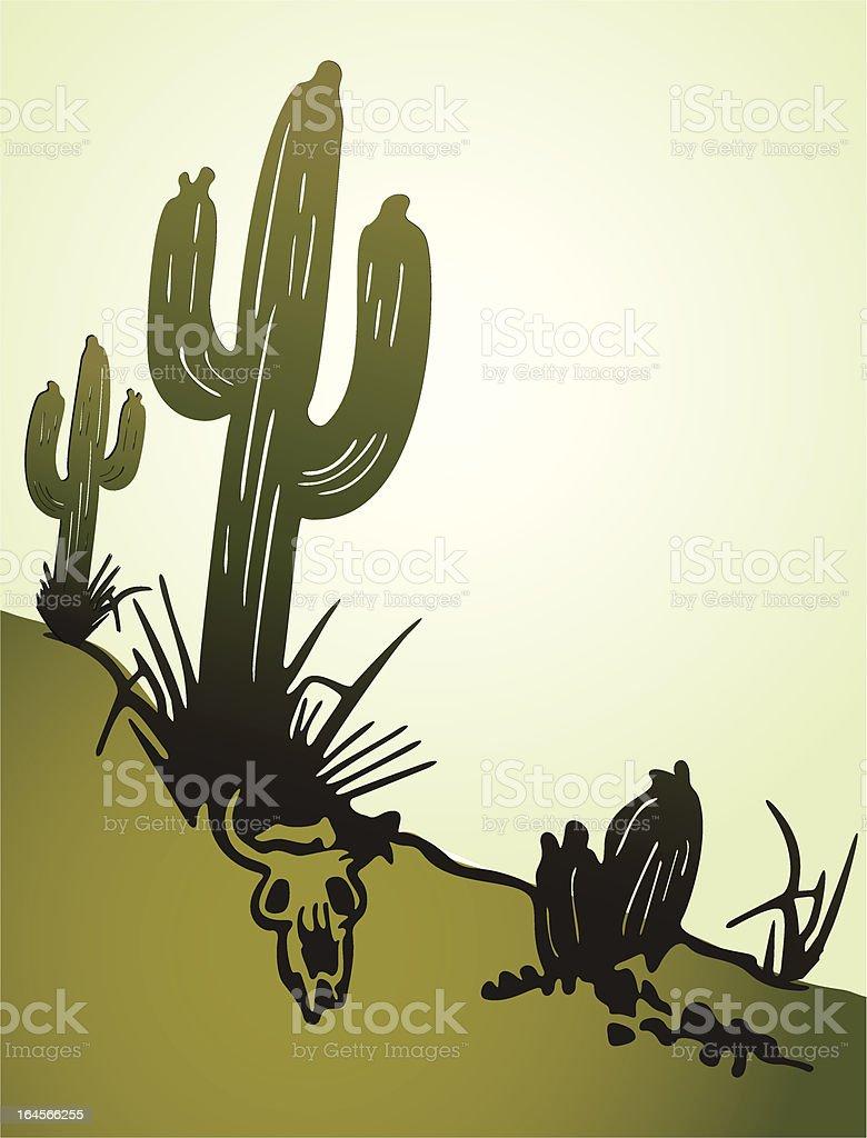 Cactus saguaro. Vector background vector art illustration