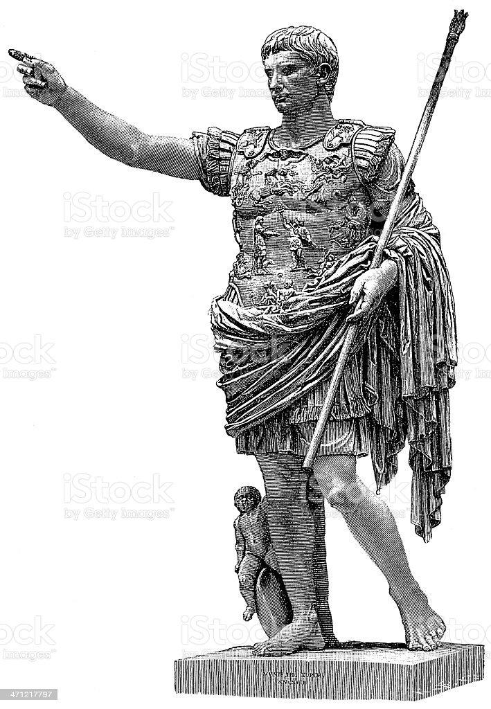 Caesar vector art illustration
