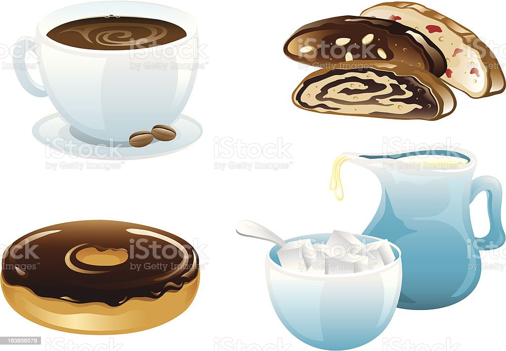 Cafe Food Icons royalty-free stock vector art