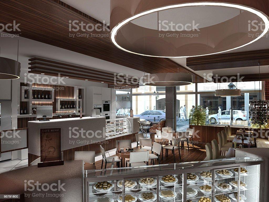 cafe Restaurant royalty-free stock vector art
