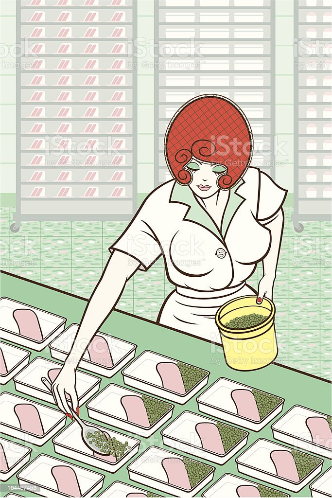 Cafeteria Worker royalty-free stock vector art