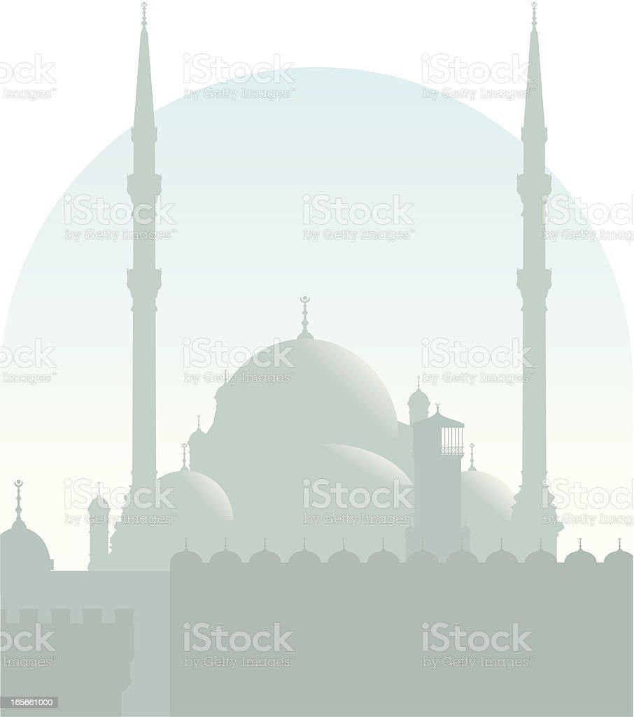 Cairo mosque royalty-free stock vector art