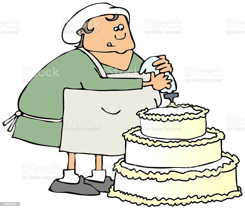 Cake decorator royalty-free stock vector art