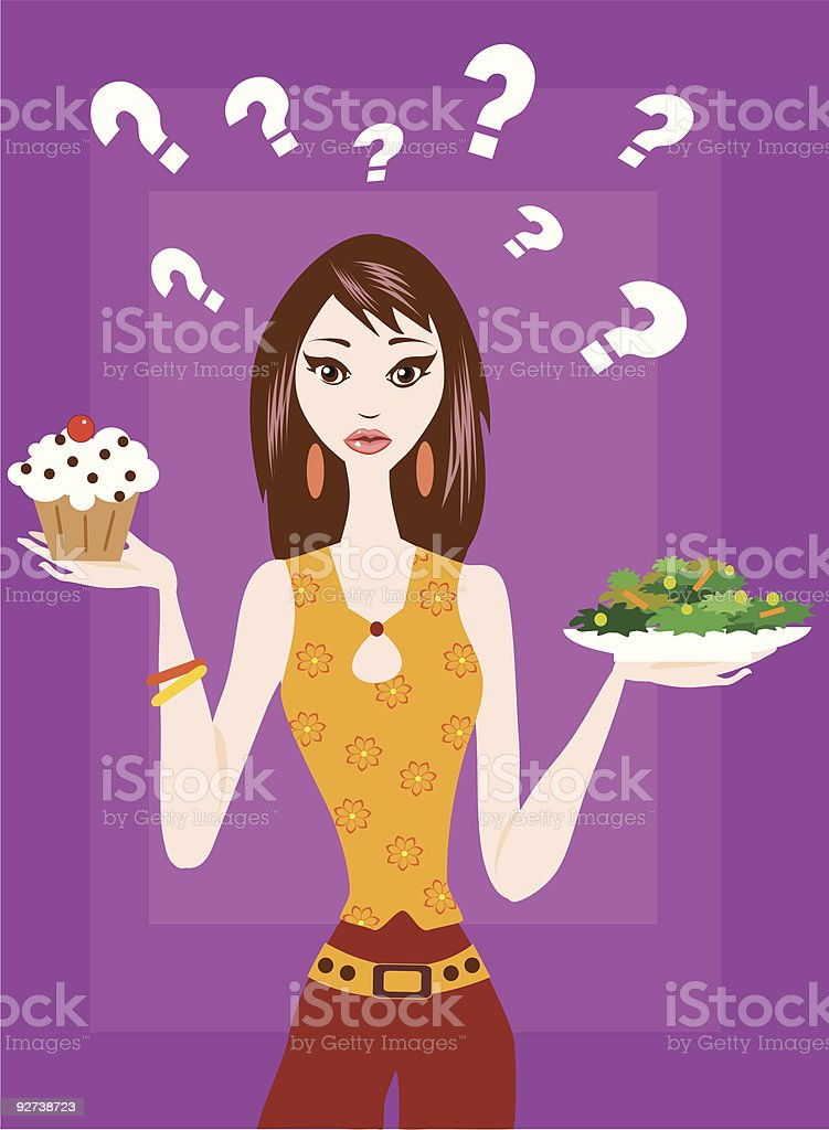 Cake Or Salad royalty-free stock vector art
