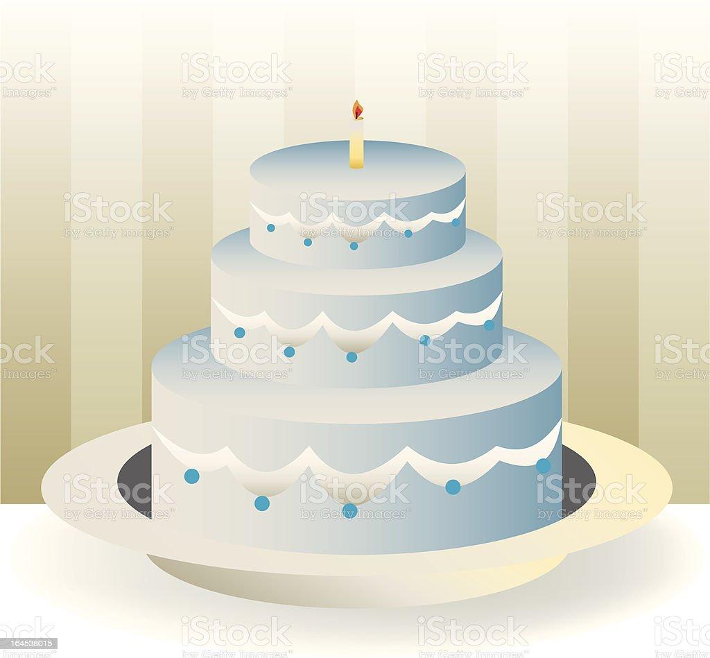 cakeBirthday royalty-free stock vector art
