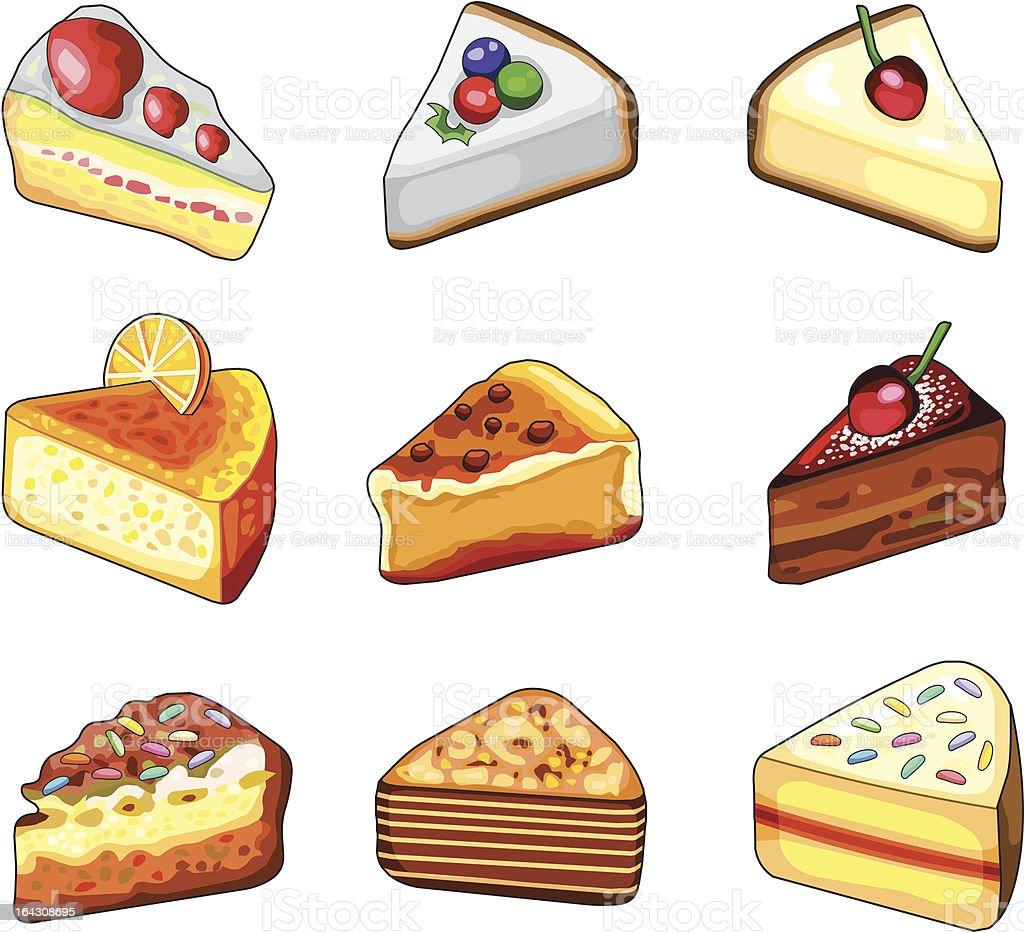 Cakes royalty-free stock vector art