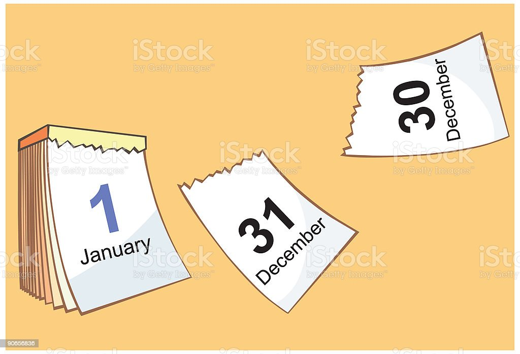 Calendar, new year royalty-free stock vector art
