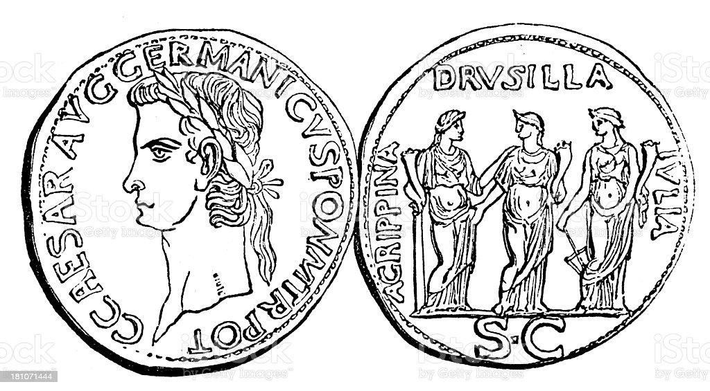 Caligula royalty-free stock vector art