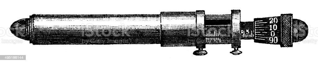 caliper vector art illustration