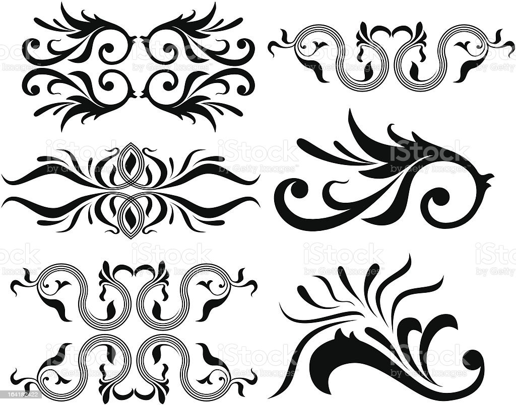 Calligraphical figures royalty-free stock vector art