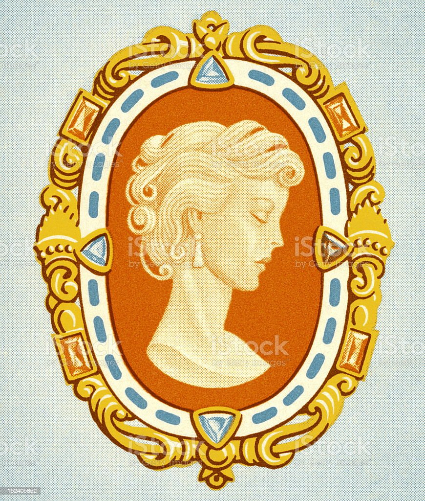 Cameo in Frame royalty-free stock vector art