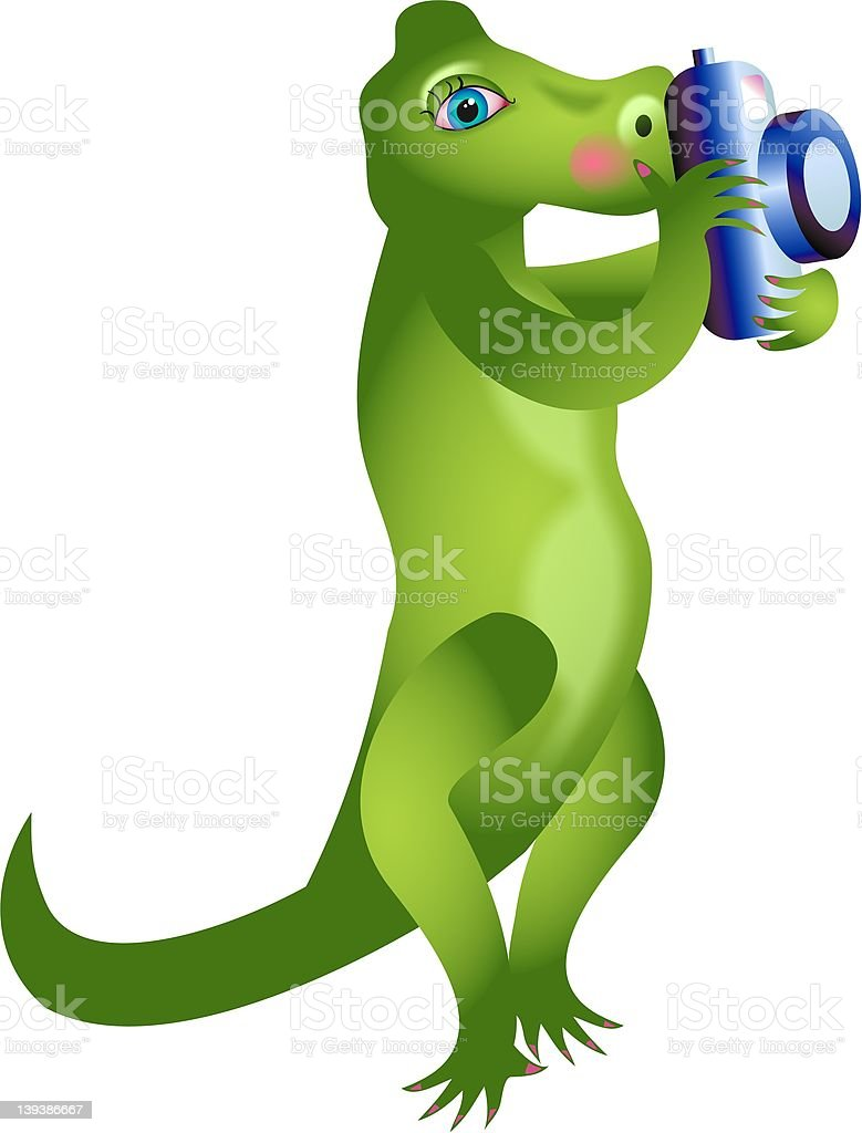 Camera Gator royalty-free stock vector art