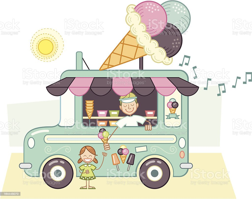 Camion à glace vector art illustration