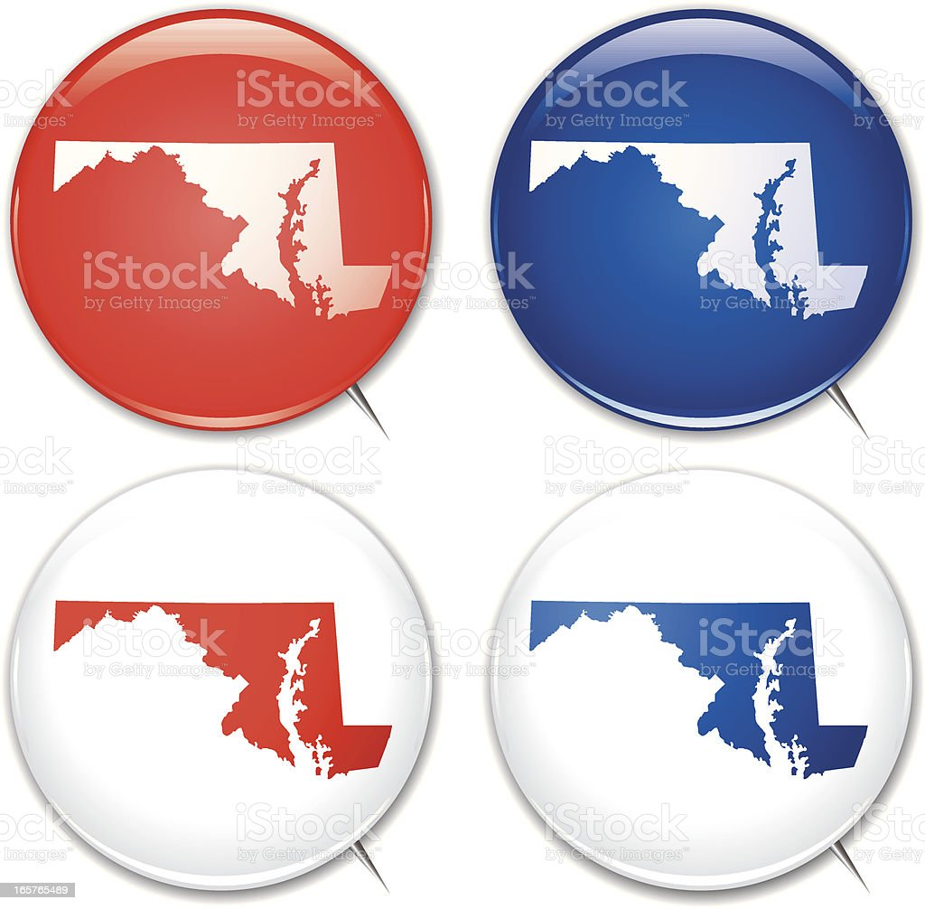 Campaign Buttons - Maryland royalty-free stock vector art