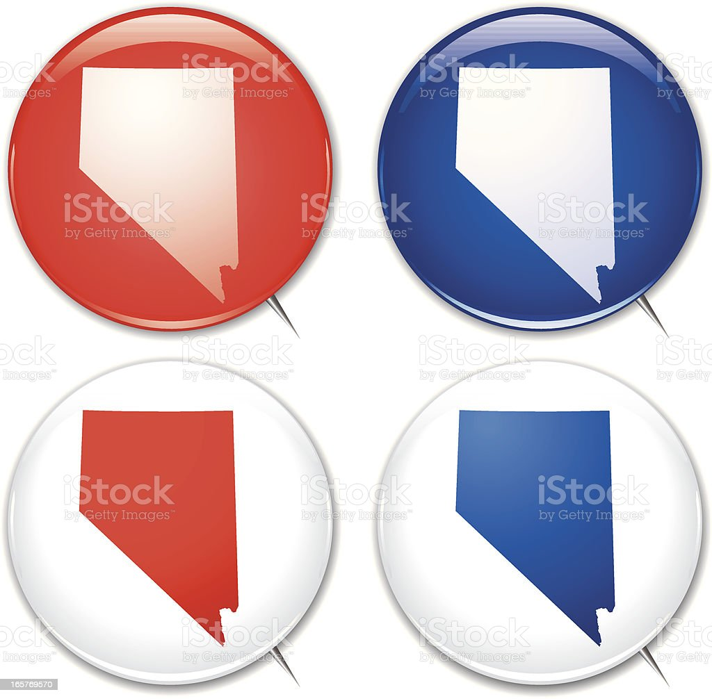 Campaign Buttons - Nevada vector art illustration
