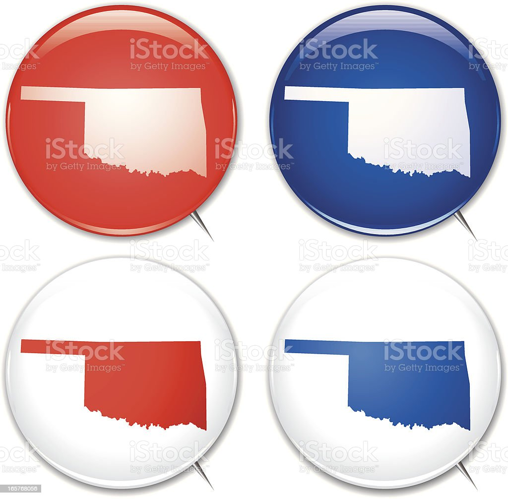 Campaign Buttons - Oklahoma royalty-free stock vector art