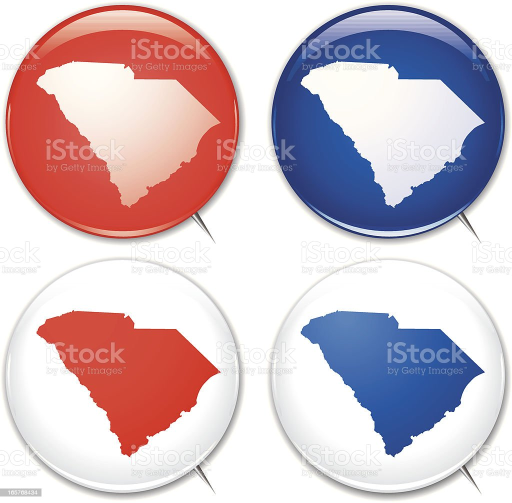 Campaign Buttons - South Carolina royalty-free stock vector art