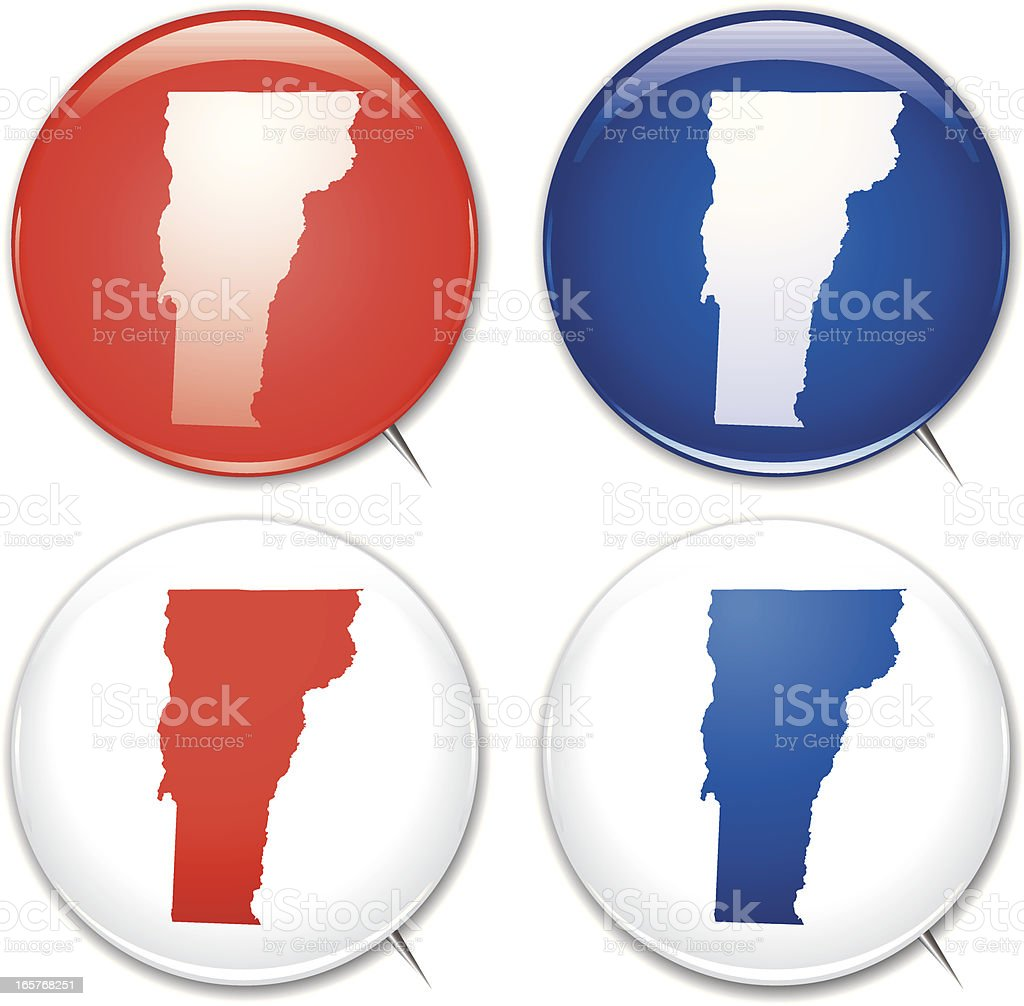 Campaign Buttons - Vermont vector art illustration