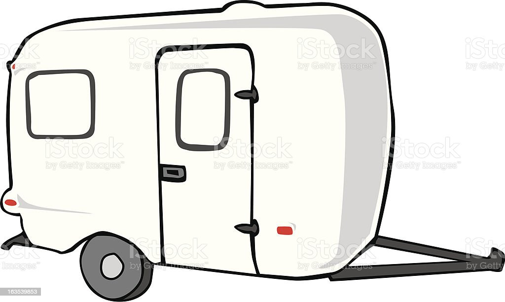 Camper trailer royalty-free stock vector art