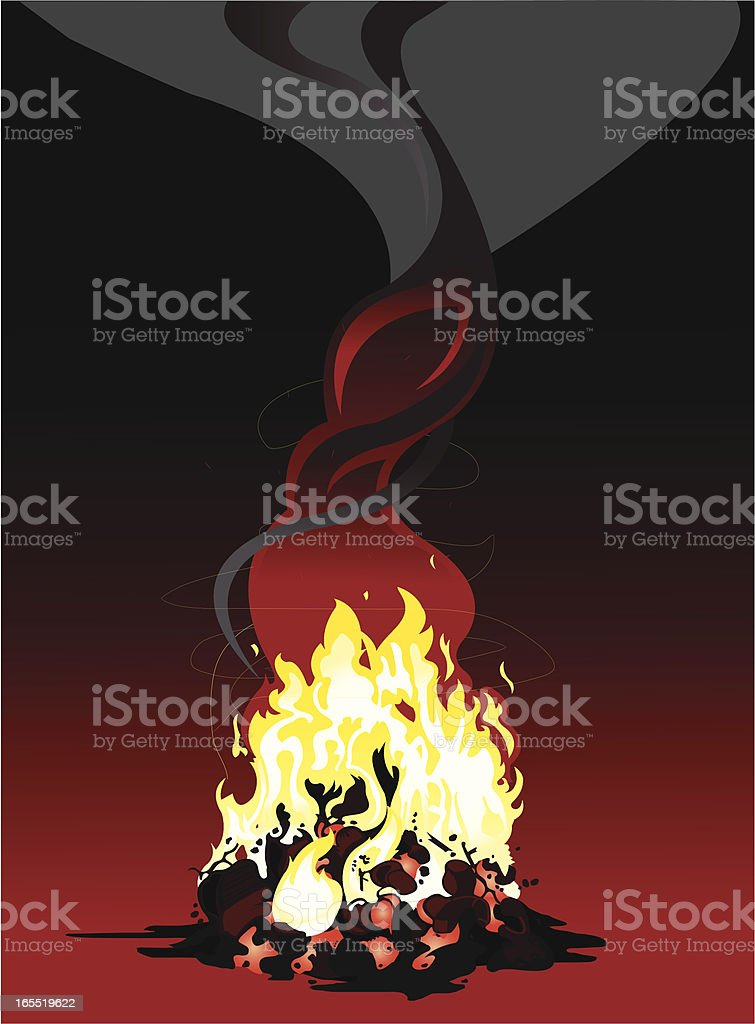 Campfire royalty-free stock vector art