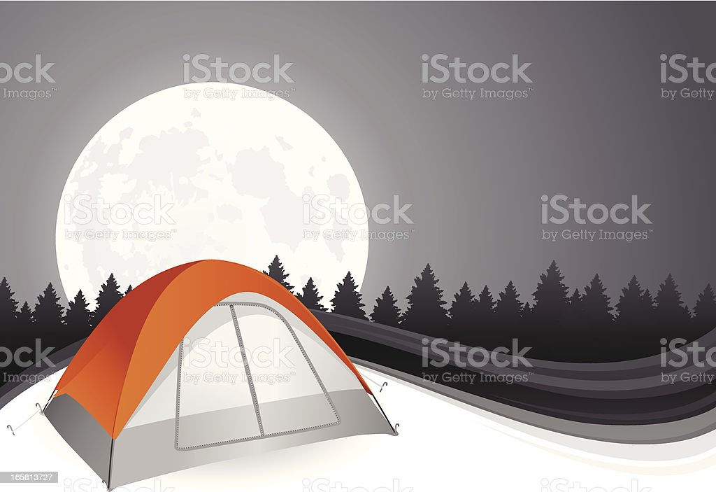 Camping Background royalty-free stock vector art