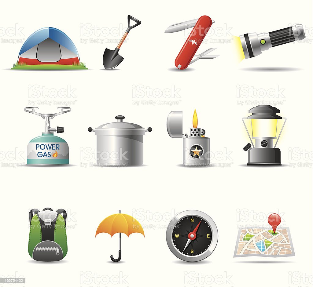 Camping Icon Set | Elegant Series royalty-free stock vector art
