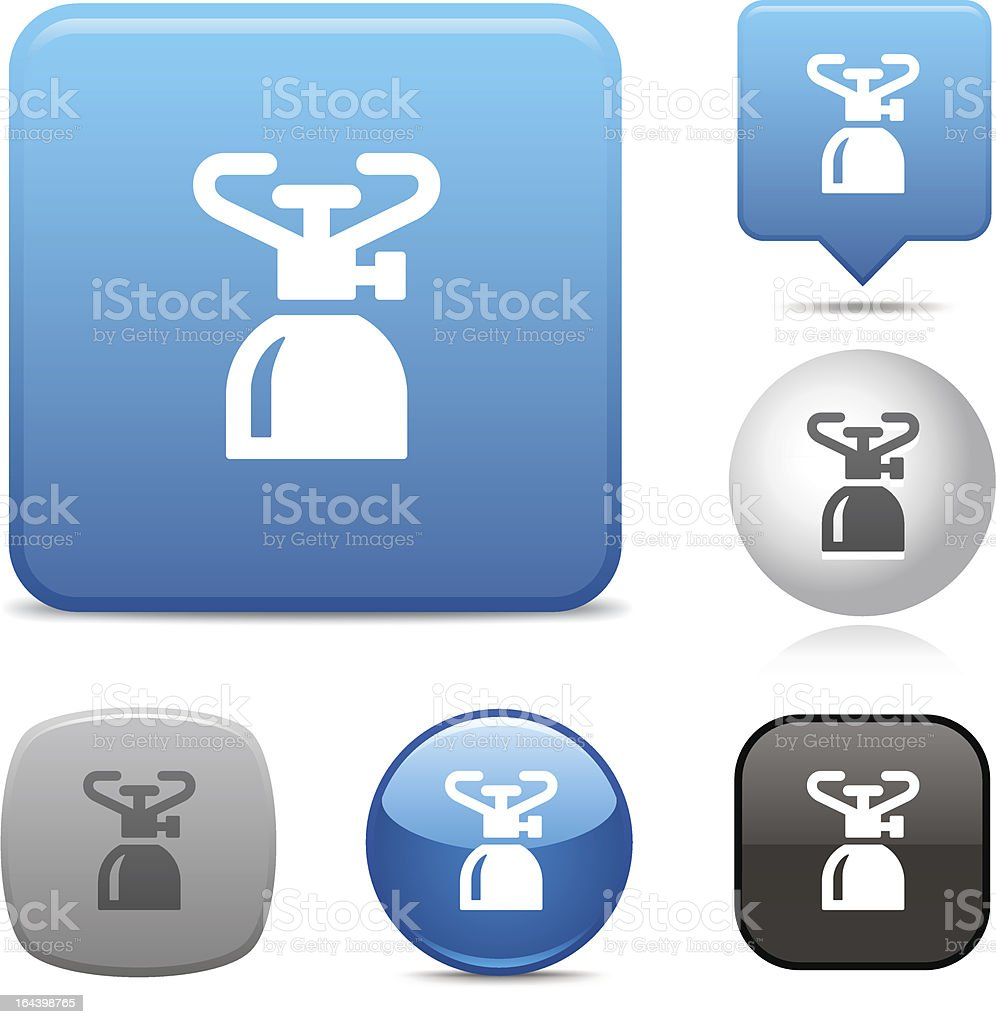 Camping Stove icon royalty-free stock vector art