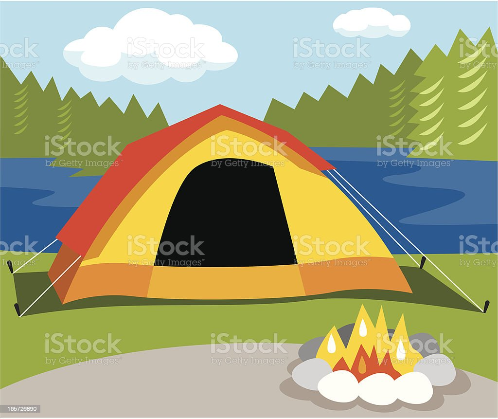 Camping Tent royalty-free stock vector art