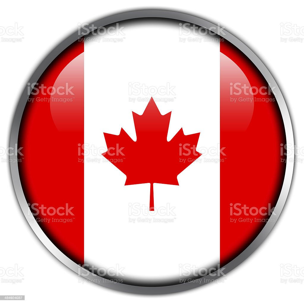 Canada Flag glossy button royalty-free stock vector art