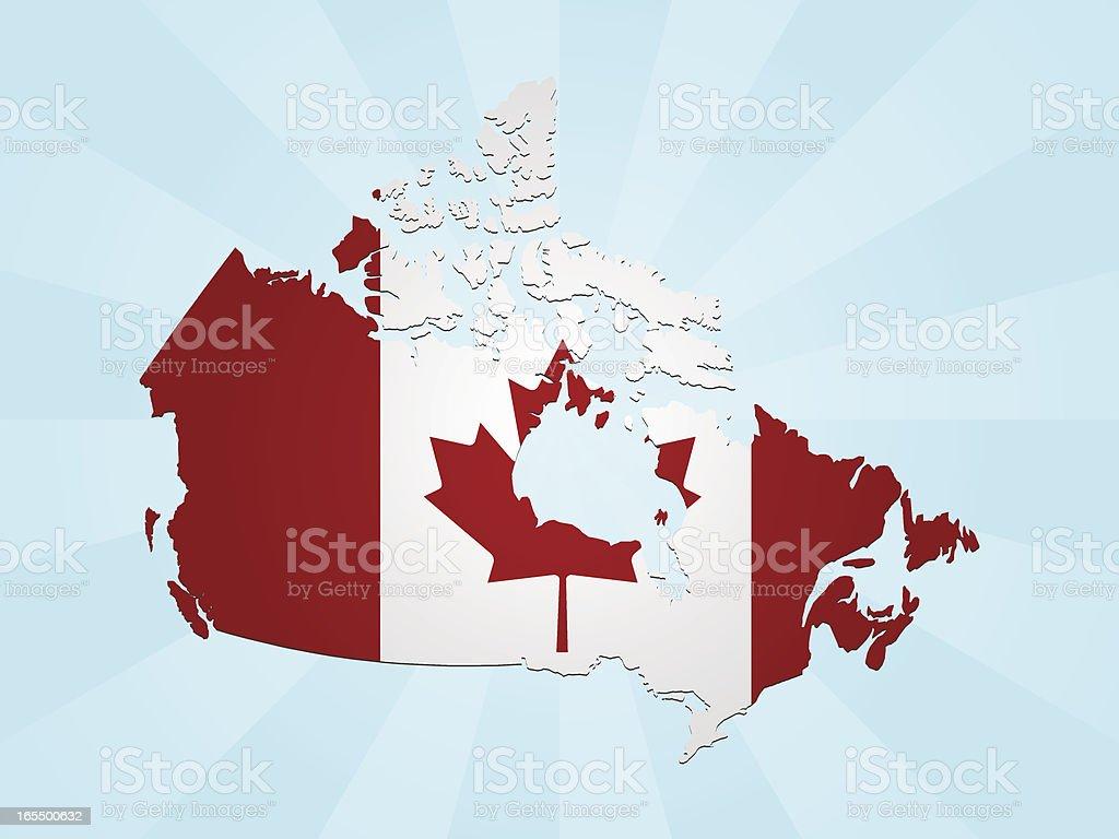 Canada Flag Map royalty-free stock vector art