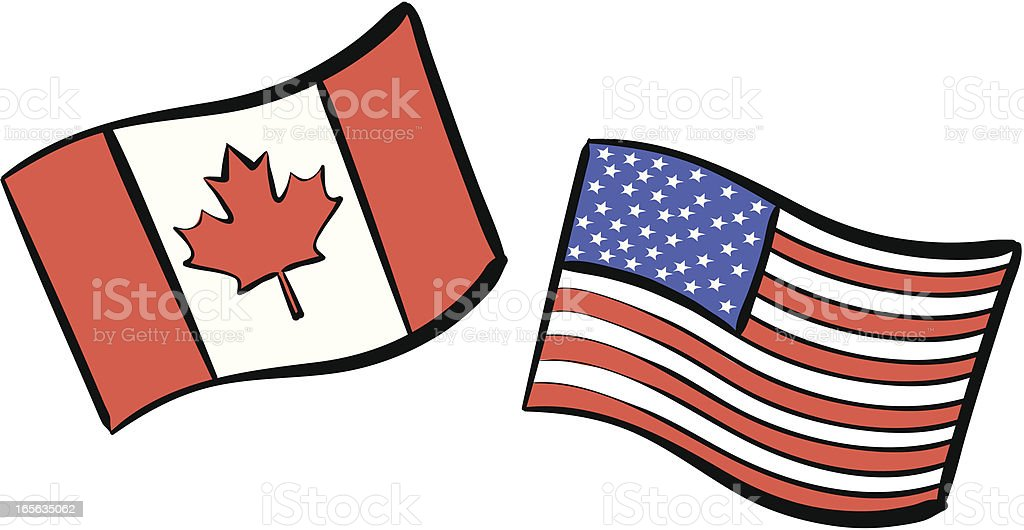 U.S.A & Canada royalty-free stock vector art