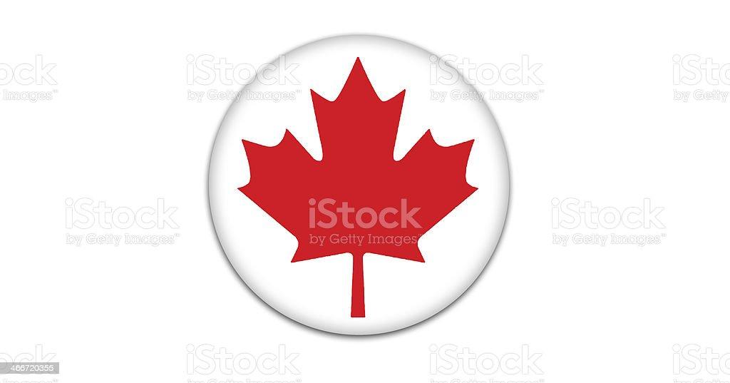 Canadian flag badge. vector art illustration