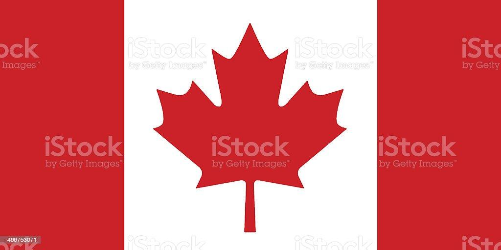 Canadian Flag illustration. vector art illustration