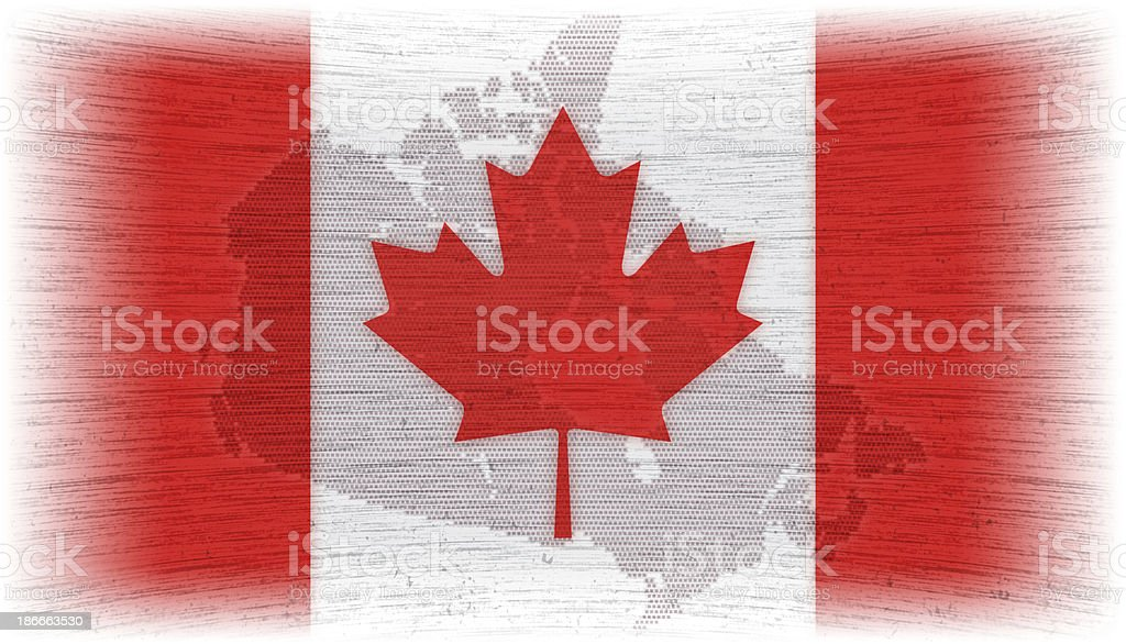 canadian flag with map royalty-free stock vector art