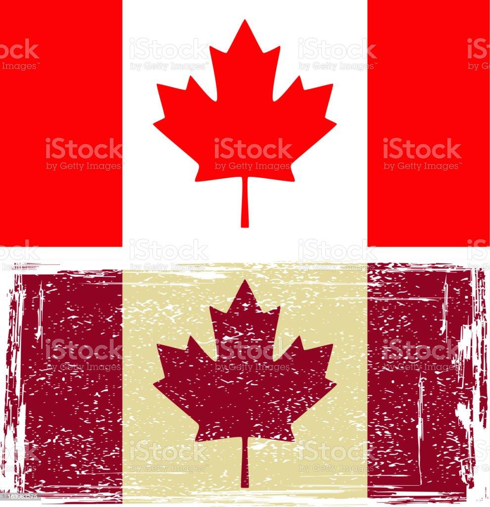 Canadian flags. vector art illustration