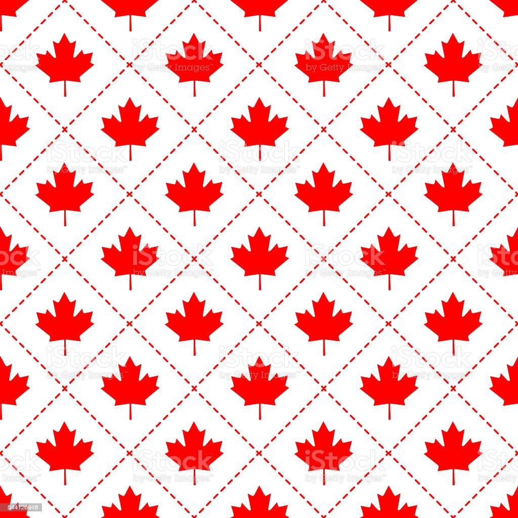 Canadian maple leaf symbol pattern vector art illustration