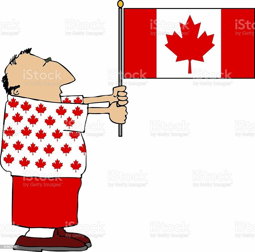 Canadian Patriot royalty-free stock vector art