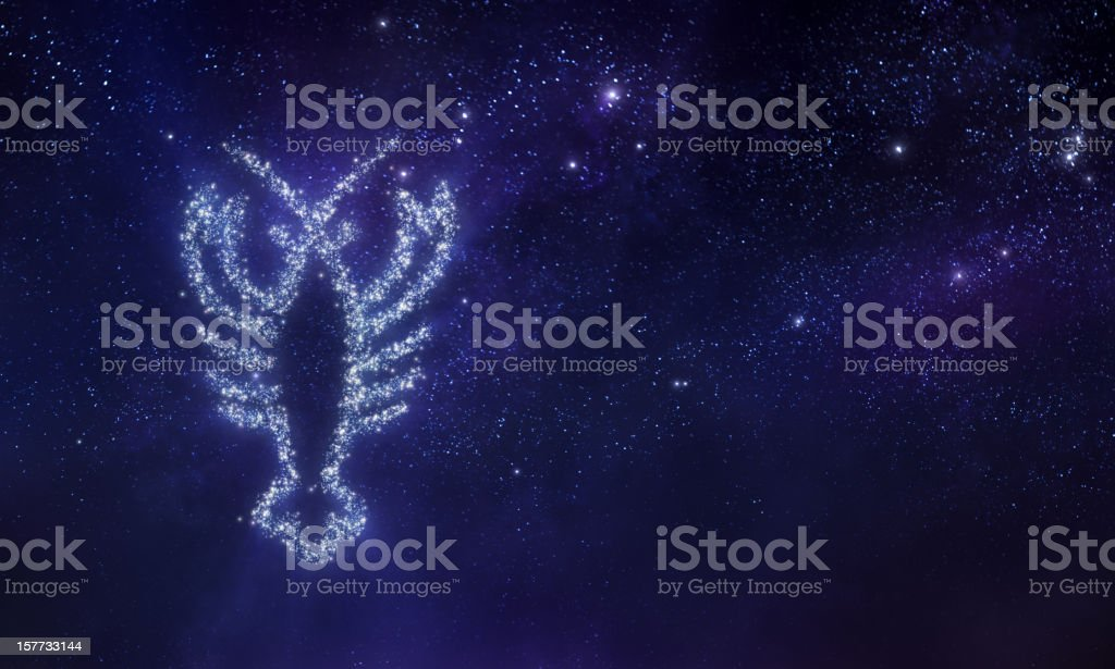 Cancer zodiac sign vector art illustration