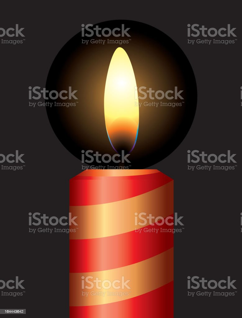 candle royalty-free stock vector art
