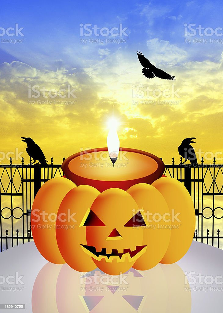 Candle of Halloween royalty-free stock vector art