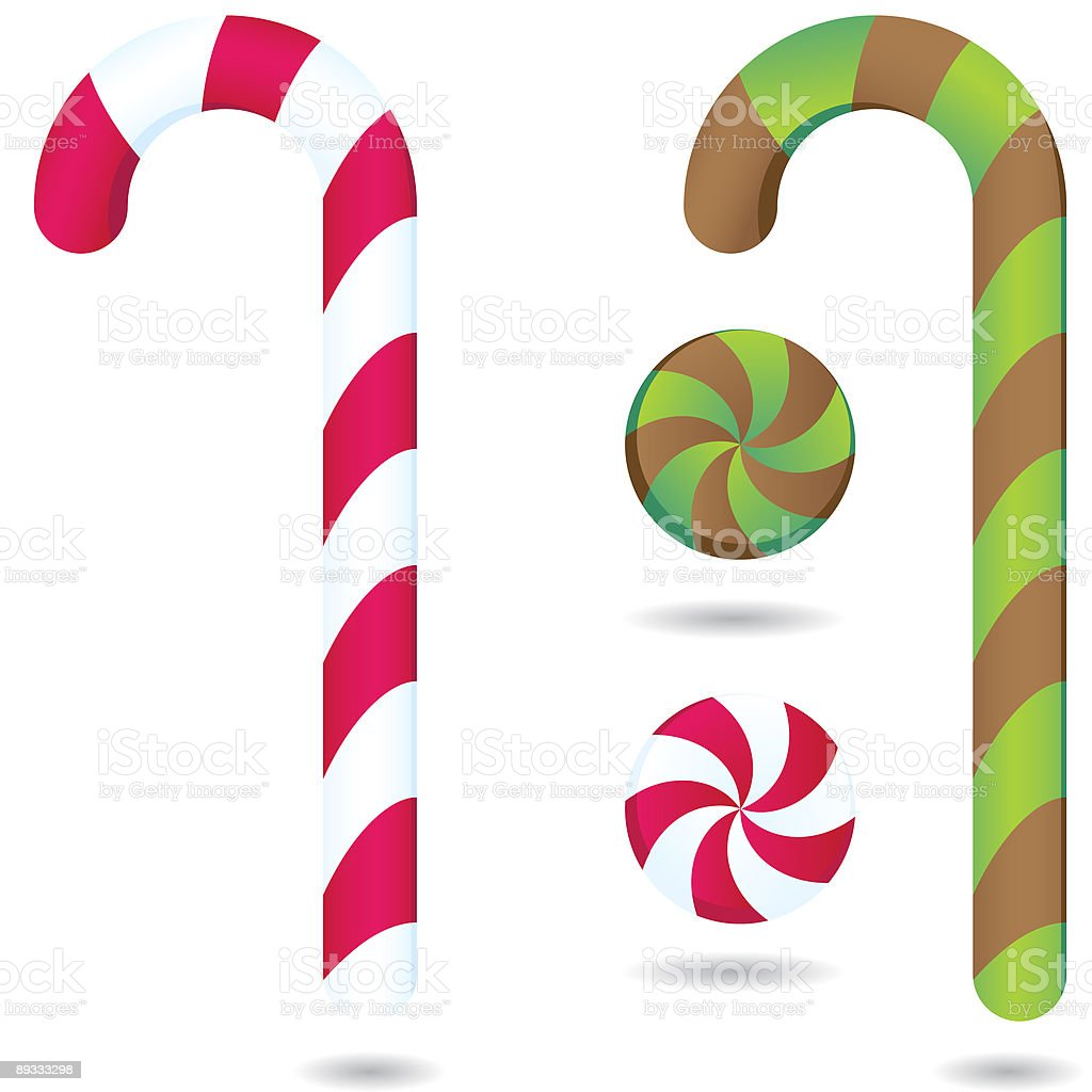 Candy Canes and Peppermints royalty-free stock vector art