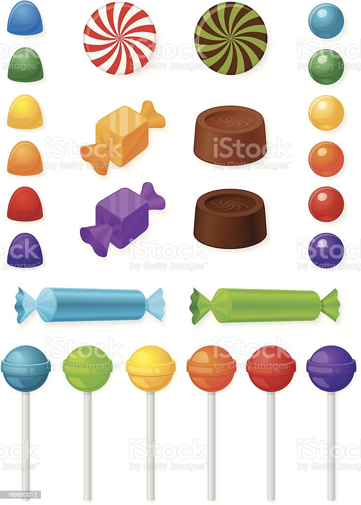 Candy Collection vector art illustration