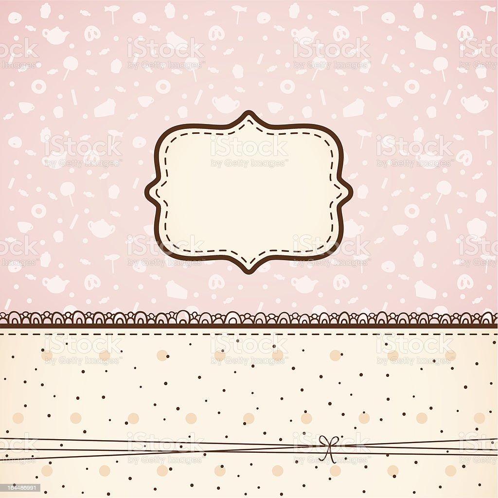 Candy invitation royalty-free stock vector art