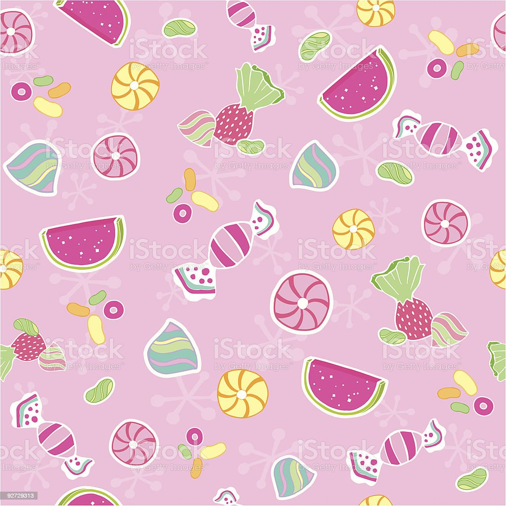 Candy Seamless Repeat Pattern Vector royalty-free stock vector art