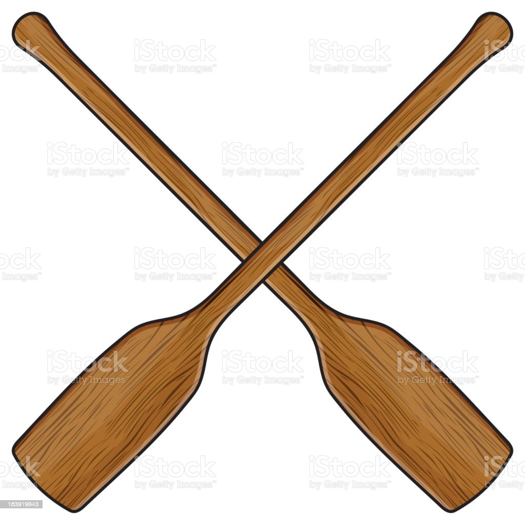 canoe paddle royalty-free stock vector art